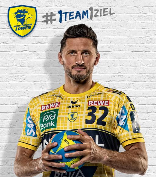 Handball-Spieler Alexander Petersson von den Rhein-Neckar-Löwen.