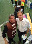 ProSC Geschäftsführer Jochen Bergener mit Sportkommentator.